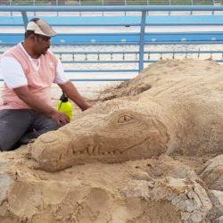 أجيال التطوعي بالجشة يوزع الماء والمشروبات الساخنه بمدينة الملك عبدالله للتمور